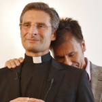 "Monsignor Krzystof Charamsa and his ""partner."""